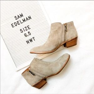 SAM EDELMAN | NWT Putty Suede Booties Size 6.5